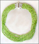 A powerful handmade peridot necklace for Chi (Qi), chakra, acupuncture, alternative medicine, holistic medicine, health, wellbeing, happiness, harmony